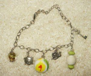 Bracelets mailles couleur argent