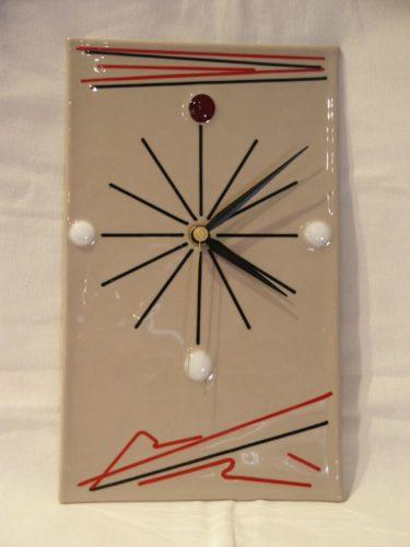 Horloge fil de verre