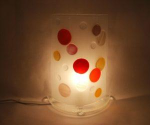 Lampe bulles chaudes allumée