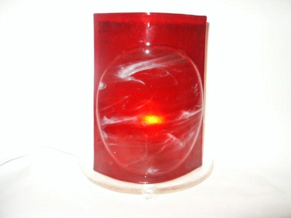 Lampe rouge allumée
