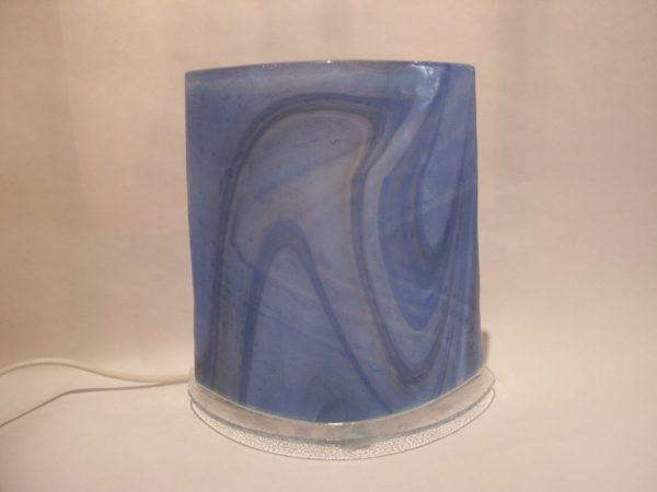Lampe bleue veinée
